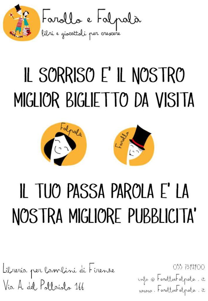 Farollo e Falpala libreria per bambini di Firenze - passa parola
