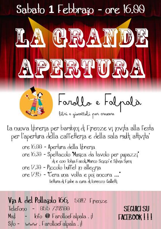 Farollo e Falpalà - Libreria per Bambini di Firenze - Grande Apertura