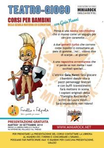 Farollo e Falpalà libreria per bambini di Firenze, corso di teatro per bambini