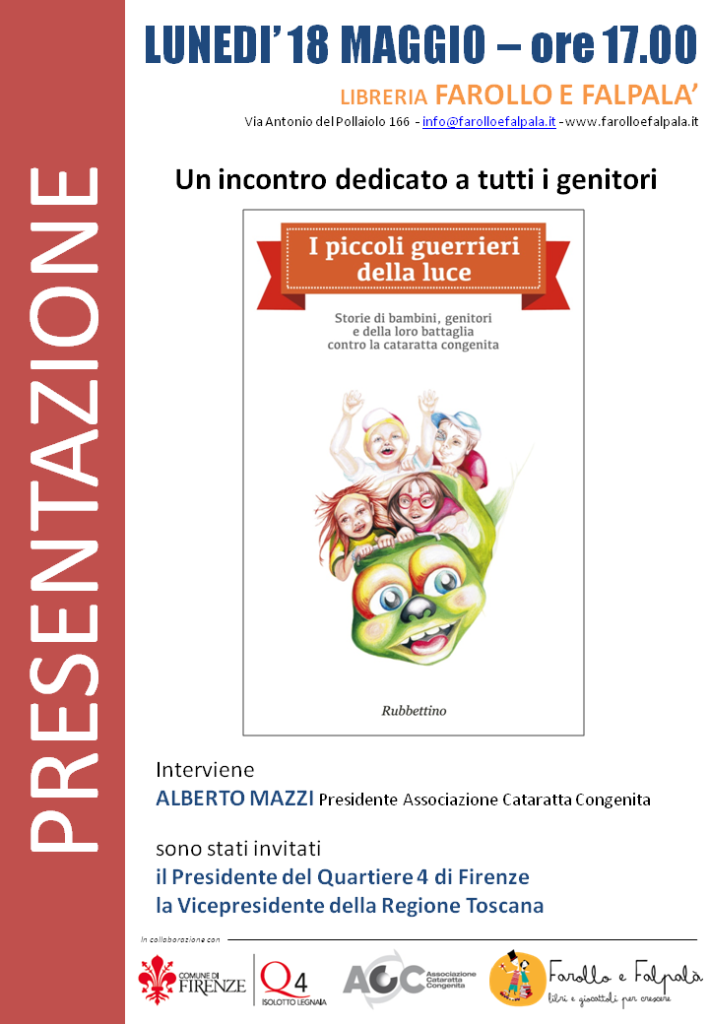 Presentazione Associazione Cataratta Congenita da Farollo e Falpalà Libreria per Bambini di Firenze