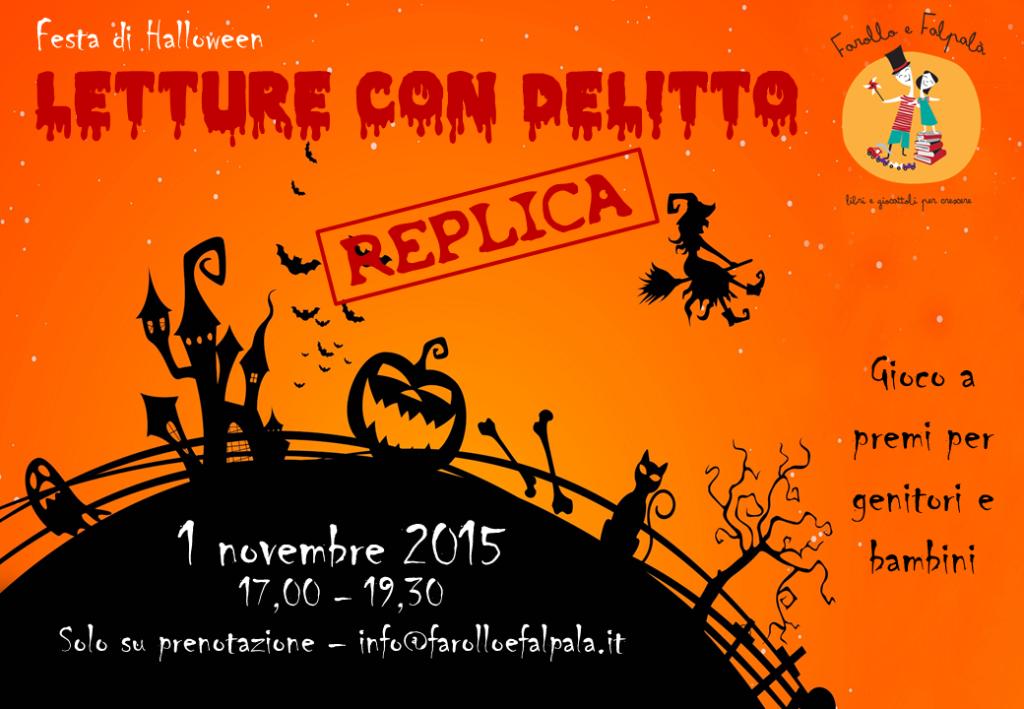 Festa di Halloween Lettura con delitto - da Farollo e Falpalà libreria per bambini e ragazzi di Firenze