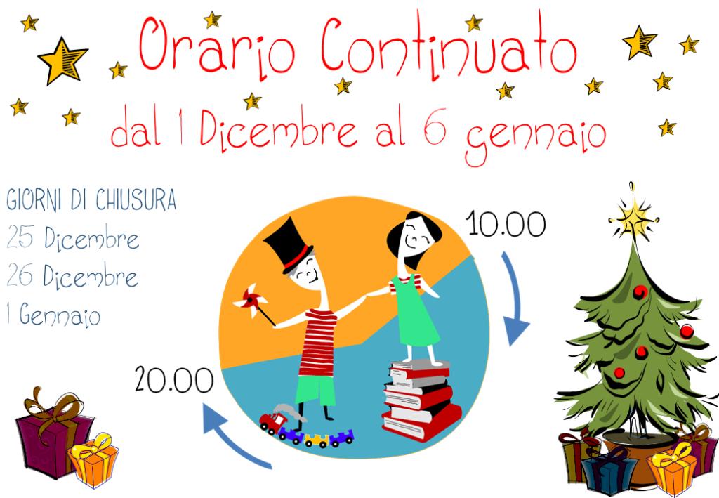 Orario continuato Natale 2015 Farollo e Falpalà